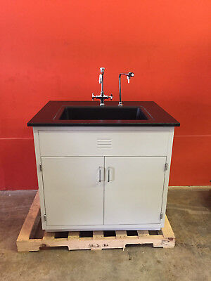 "LF Systems P181-36 36"" x 36"" x 22"" Epoxy Resin Laboratory Sink"