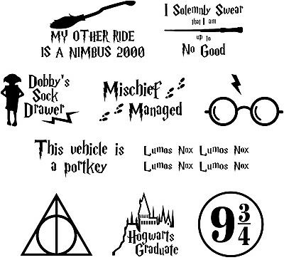 Bumper Pack of Assorted Harry Potter Inspired Vinyl Decal Stickers