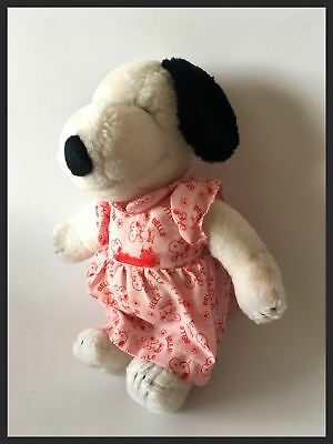 Syndicate Vintage 1958 Snoopy Plush With Pink Belle Dress Toy