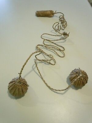 Rawhide Twisted Leather Throwing & Hunting Bolas Over 6' - 2 Ball Bolas Weapon
