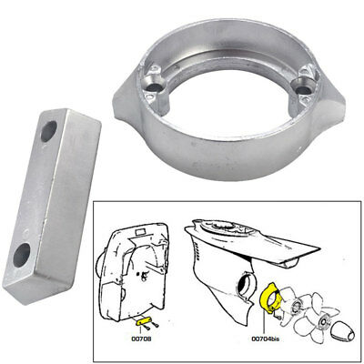 Tecnoseal Anode Kit Volvo 290dp with Hrdwr Magnesium Poly #20706MG