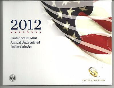 2012  US Mint Annual Uncirculated Dollar Set