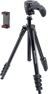 Manfrotto Compact Action Smart Tripod with Joystick Head and SmartPhone Clamp