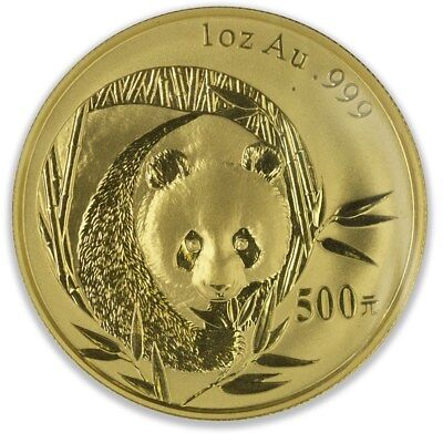 China 2003 Gold 1 oz Panda 500 Yuan Original Mint Sealed BU