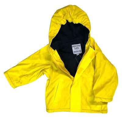 Yellow Fleece Lined Unisex Kids Raincoat