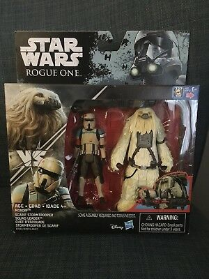 "Star Wars Rogue One - 3.75"" figures 2 Pack Scarif Stormtrooper & Chef D'escouad"