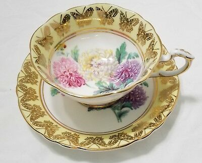 Paragon Cup Saucer Chrysanthemum Yellow Butterfly
