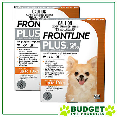 Frontline Plus For Dogs Small Up To 10kg 9 Pack