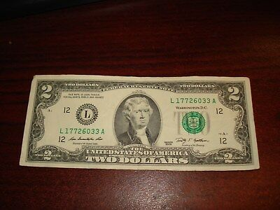 2009 -USA $2 bank note - American two dollar bill - L 17726033 A