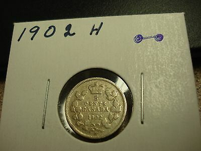 1902 H - Canada Silver Nickel - Canadian 5 cent