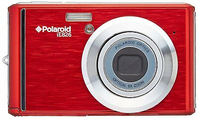 Polaroid iE826-RED 18MP Compact Digital Camera 2.4-inch LCD 18MP 8X Zoom