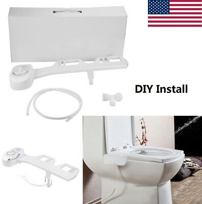 Bidet Toilet Seat Attachment Non-Electric Mechanical Fresh Water Spray Cleaning