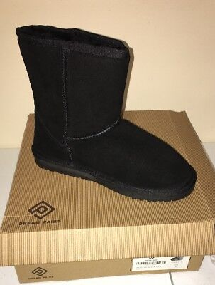 DREAM PAIRS Boys Girls Toddler/Kids Shorty Winter Boots Black Size 6