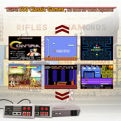 Mini Retro TV Game Console Built-in 400/500/621 8Bit Classic+2Controllers for TV