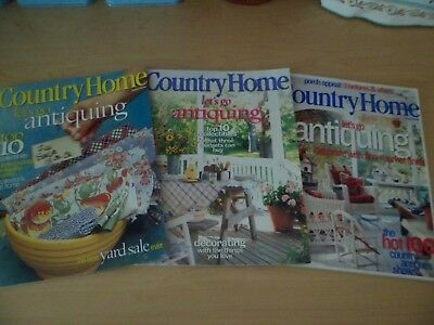 Vintage Country Home Magazine Lot of 3 August 1999,2000,2002 #1