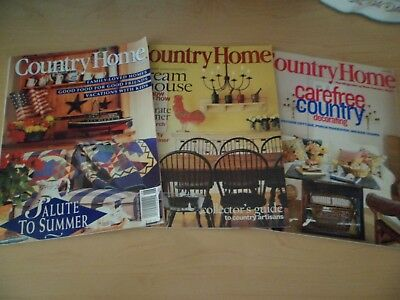 Vintage Country Home Magazine Lot of 3 June 1994 June 1999 June 2001 #2