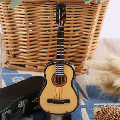 MG-245 Mini Musical Ornaments Wooden Craft Miniature Guitar for Home Decor KL