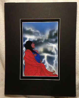 Two Ron Mitchell Cherokee Native American Artist Signed Numbered Prints - COA