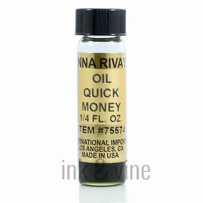 Anna Rivas Oil: Quick Money Drawing Oil Fast Voodoo Hoodoo Wicca Pagan