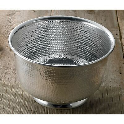 "15"" Hammered Round Aluminum Punch Bowl by KINDWER"