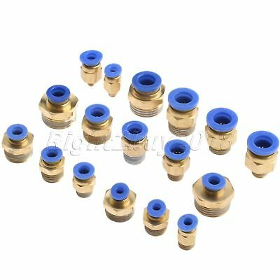Convenient Pneumatic 4mm-10mm Push In Fittings Air Water Hose Tube Connector Kit