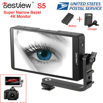 "Bestview S5 5.5"" 4K Camera HDMI Video Filed Monitor for DSLR Gimbal+ Battery Kit"