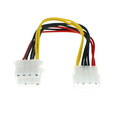 2pcs 4 Pin Male to 2 port IDE Female Power Supply Splitter Adapter Cable 18cm  X