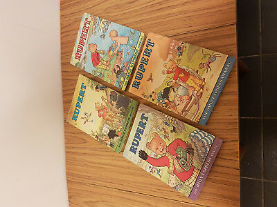 4 X Rupert Bear Annuals * 1972, 75, 76 & 78 * Good Condition *