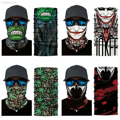 62F0 Half Face Mask Portable 2018 Riding Seamless Sports Clown Seamless Bandana