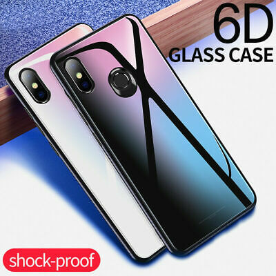 Tempered Glass Case For Xiaomi 8 9 Redmi Note 7 Pro 6 Pro 4X F1 Shockproof Cover