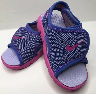 ed346475c Nike Sunray 4 (td) Adjustable Sandals 86521-504 Summer Pink Purple Girls SZ