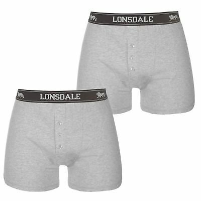 Clothing, Shoes & Accessories Mens Navy 2 Pack Lonsdale Boxer Shorts Trunks Underwear Modern Design