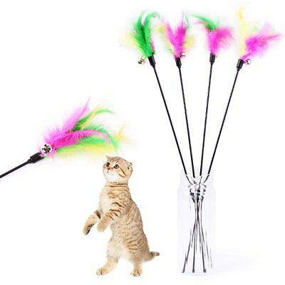 Pet Cat Toys Soft Feather Bell Rod Toy Kitten Funny Playing Interactive Toy HS