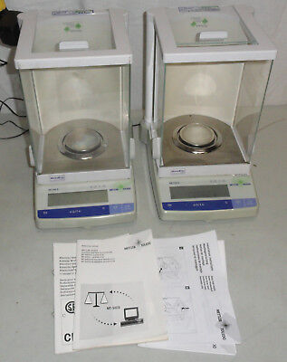 Lot of 2 Mettler Toledo AB104S AB104 Precision Analytical Balance Digital Scale