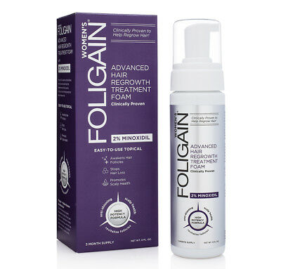 Foligain Hair Regrowth Treatment Foam 177ml 3 Months Supply for Women