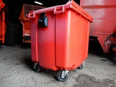 1100ltr Red Wheelie Bins for sale. Used but in very good condition.