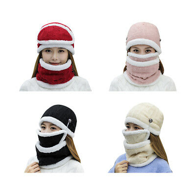 Windproof Winter Warm Scarf Neck Face Mask Motorcycle Cycling Riding Ski Hat Cap