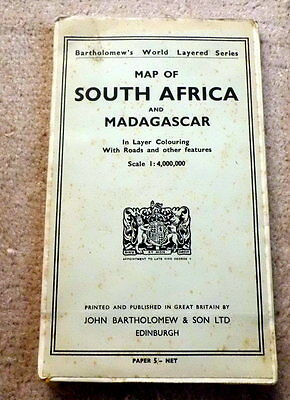 Bartholomew's map of South Africa and Madagascar  1957