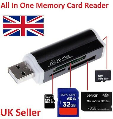All in One External USB Memory Card Reader Adapter for Micro SD MMC SDHC TF M2 D
