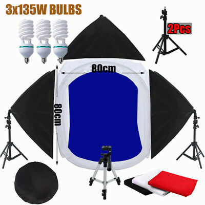 80CM Photo Studio Light Tent Cube Photography Softbox Lighting Stand Support Kit