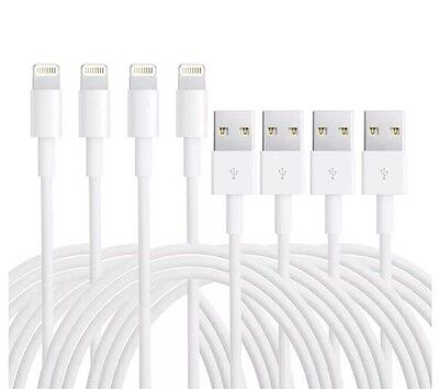 4-PACK Charging USB Cords Data Power Cable For Original Apple Iphone 5 S 6 7 8 X