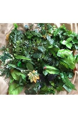 50 Artificial Craft Leaves Greenery Joblot Christmas Craft Scrapbooking Sale Ivy