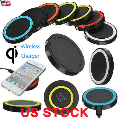 US Universal Qi Wireless Charger Dock Charging Pad Mobile Phone Adapter Wirless