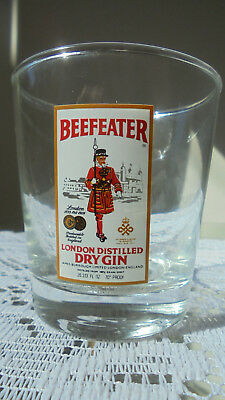 BEEFEATER LONDON DISTILLED DRY GIN Small Glass Glassware Cocktail Liquor Logo