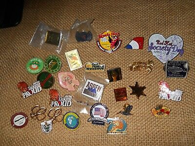 Collectable Pin Lot Irish Buffalo Red Hat Aspen Etc
