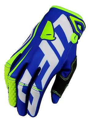 UFO 2019 MX Enduro Off Road MTB Gloves Blaze Blue Yellow