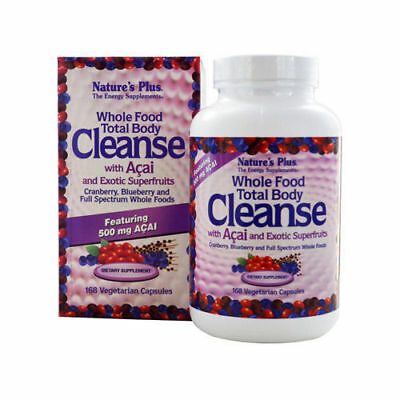 Nature's Natures Plus Whole Food Total Body Cleanse with Acai -168 Capsules