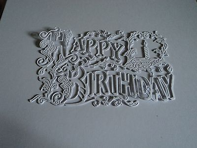 Tattered Lace Happy Birthday Tapestry Cutting Die D490