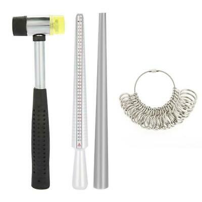 Ring Sizer Finger Sizing Measuring Stick Alloy Ring Mandrel Jewelry Tools Set