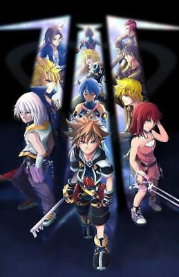 "YX00312 Kingdom Hearts - 1 2 3 Japan Action Role Playing Game 14""x21"" Poster"